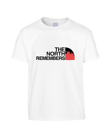 Game of Thres Inspired North Face Logo Parody 'The North Remembers' Funny T-Shirt (Unisex)