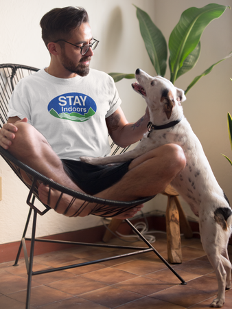 'STAY INDOORS' Go Outdoors Parody T-Shirt (Unisex)