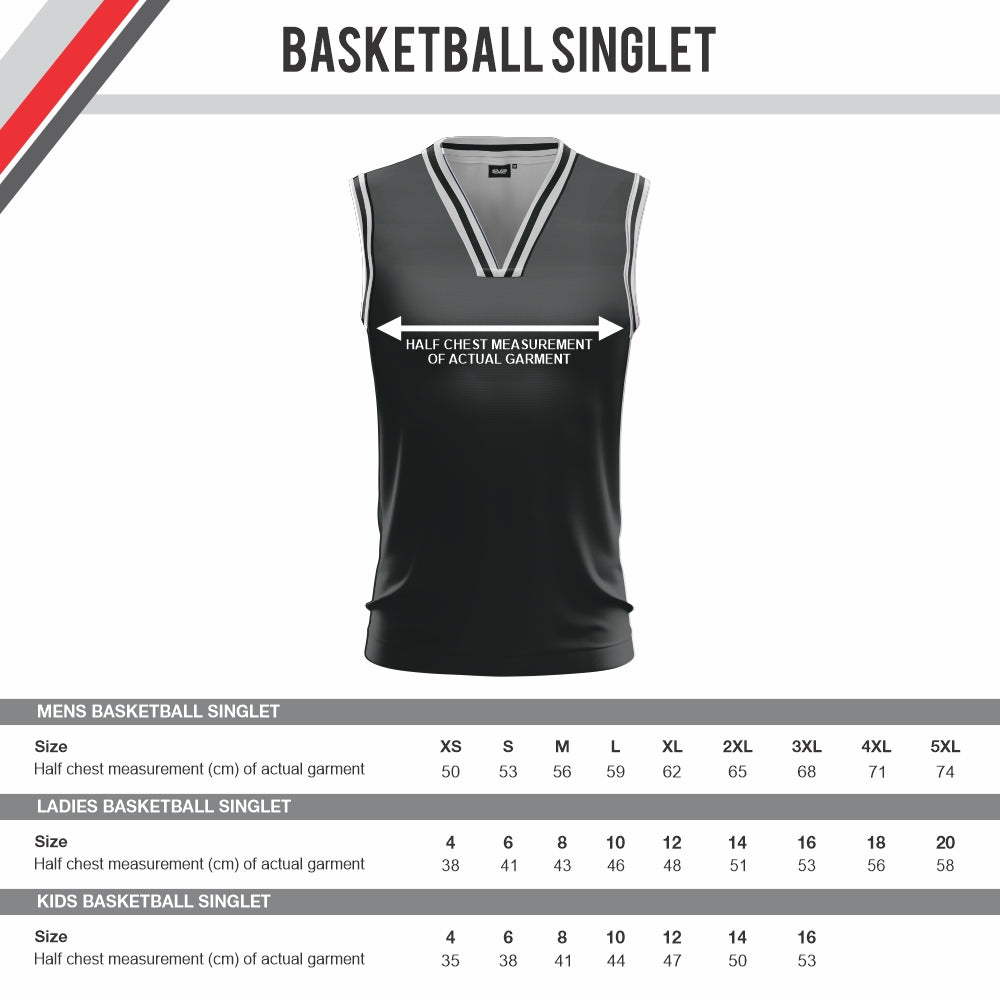 Mount Gambier Lakers Clubzone - Reversible Basketball Playing Singlet