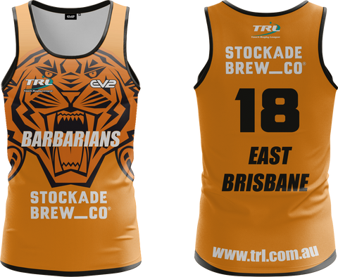 East Brisbane Tigers TRL Lycra Short (Barbarians)