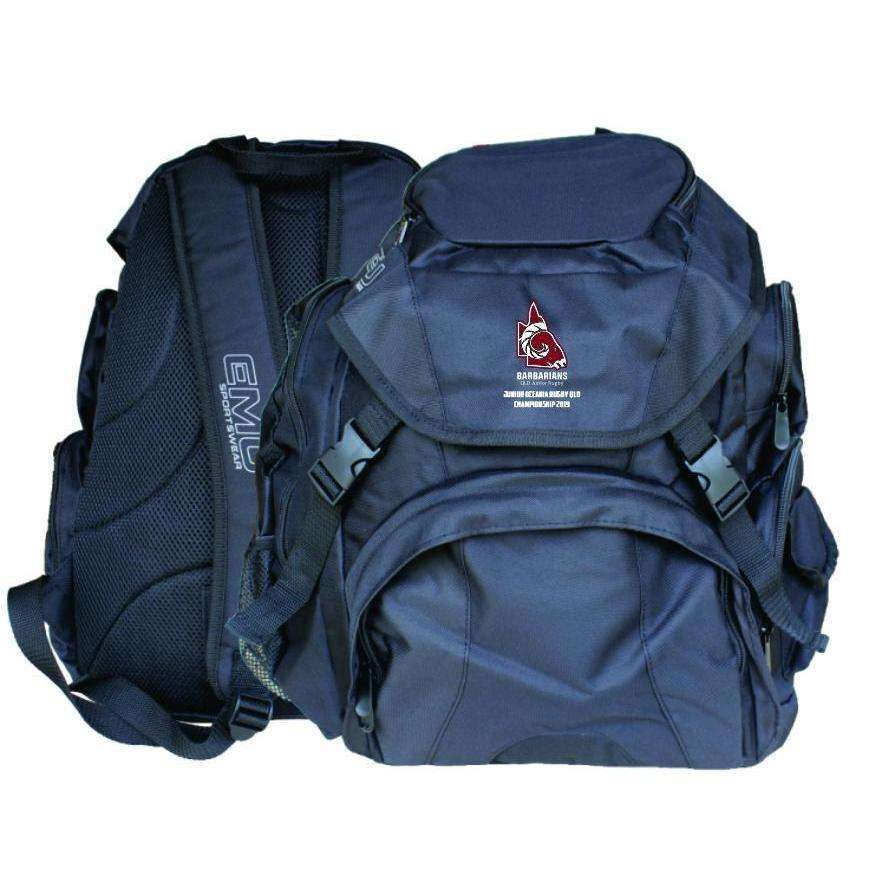 EMU Sportswear:Junior Oceania Rugby - Large Elite Backpack (Barbarians)
