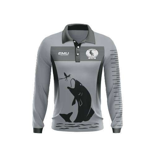 EMU Sportswear:Magpies JRL - Long Sleeve Fishing Shirt