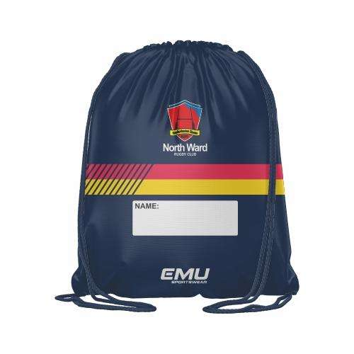EMU Sportswear:North Ward Rugby Club - Drawstring Bag