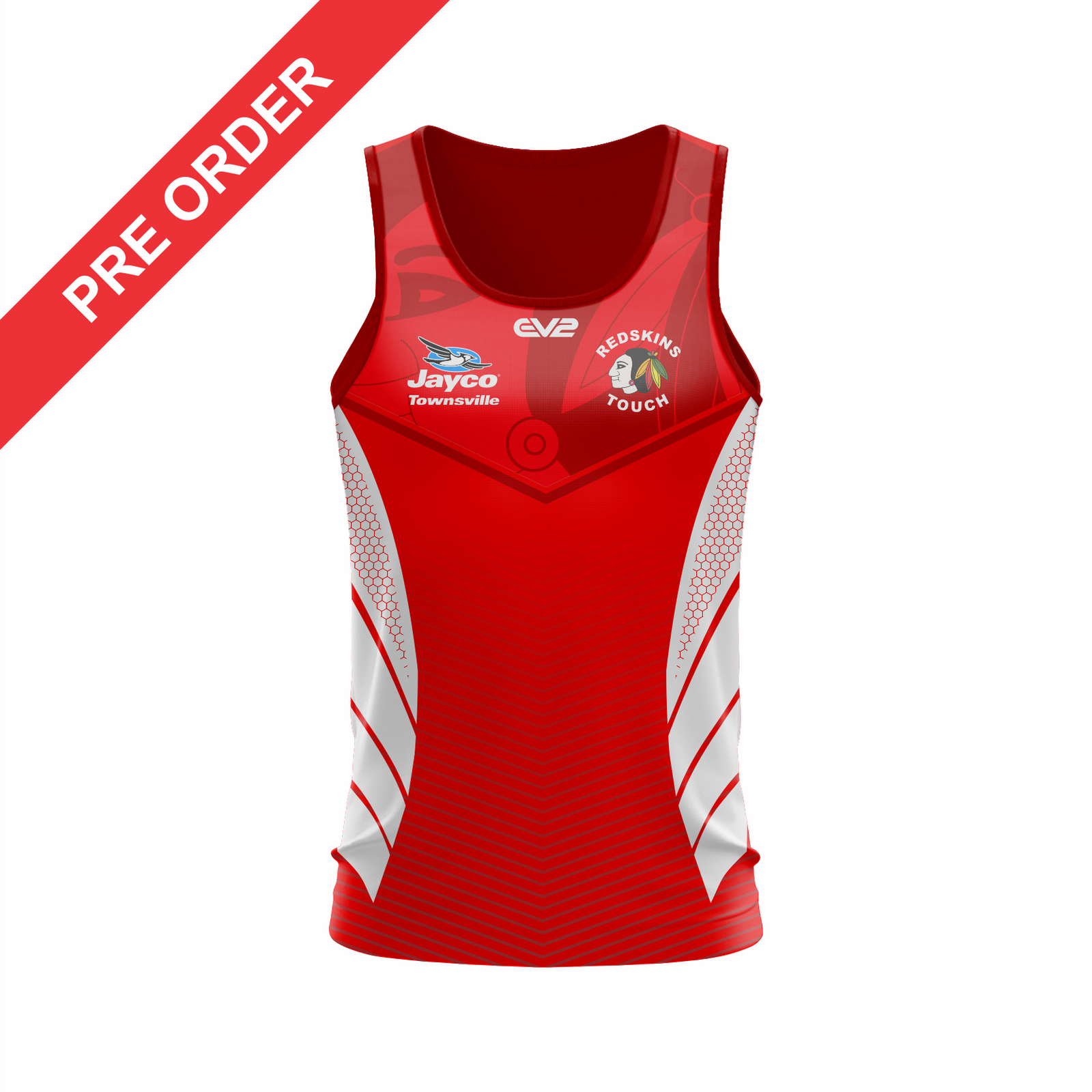 Redskins Touch Football Townsville - Training Singlet