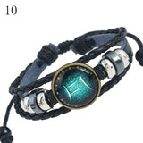 Twelve Zodiac Bracelets Europe and America Hand-woven Beaded Retro Diy Constellation Bracelet