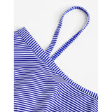 Striped Flounce Swimsuit