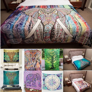 Goldtop Indian Elephant Mandala Hippie Wall Hanging Tapestry Gypsy Bedspread