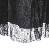 Women Lace Gothic Mermaid  Autumn Skirt