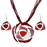 African Jewelry Set 2017 Red Rose Romantic Enamel Flower Jewelry Sets for Party Rope Bridal Jewelry Sets Summer Jewelry - The Rogue's Clothes