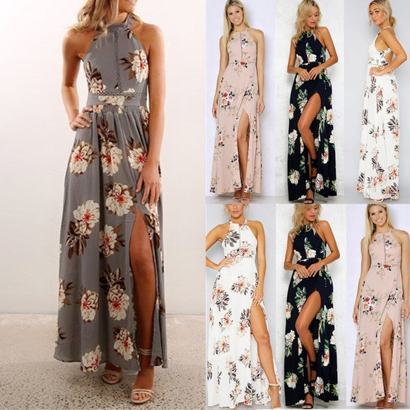 2017 New Summer Backless Dress Women Print Dresses Long Dress Beach Maxi Dress Plus Size  Picture 8 Size Table - The Rogue's Clothes