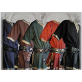 Medieval Tunic Brocade Braided Renaissance Larp Aristocrat Chevalier for Man