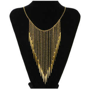 2016 New Collares Jewelry European Style Vintage Trench Fashion Necklaces Rivet Long Tassel Punk Accessories Women - The Rogue's Clothes