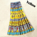 New Bohemian Long Skirt Cotton and Linen Women's Half - Length Dress