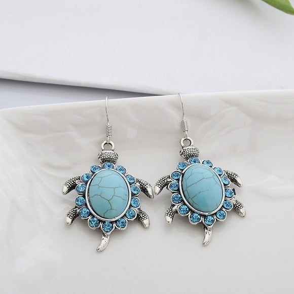 Turquoise Turtle Turtle Necklace Earrings Necklace Earrings Set Two Piece