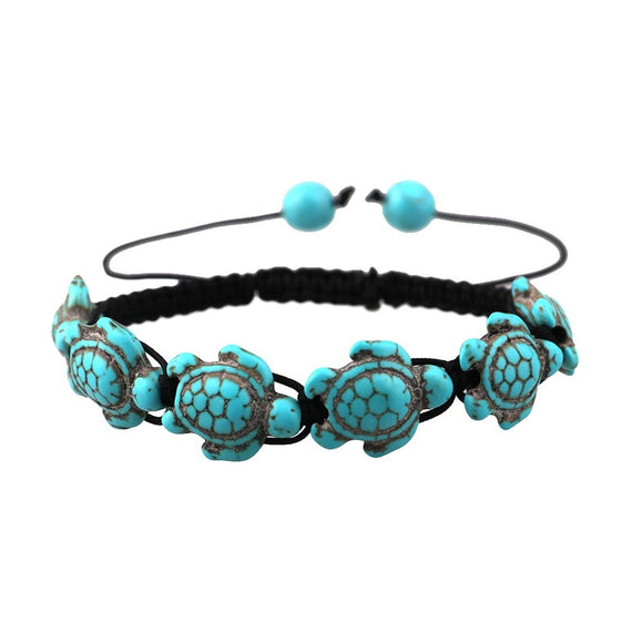 Bohemian Turquoise Turtle Bracelet Handmade Bracelet - The Rogue's Clothes