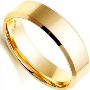 Cooool Waterproof Stainless Steel Wear Finger Wedding Ring Ordinary Ring No Other Function