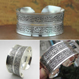 New Hot Bohemia Fashion Retro Tibet Silver Carved Wide Cuff Bracelet