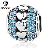 Bisaer New Silver Crystal Snake Chain Beads Fit  Bracelets Charm Fine Jewelry - The Rogue's Clothes