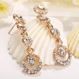 Women Elegant Drop Dangle Earrings Fashion Jewelry Rhinestone #MK