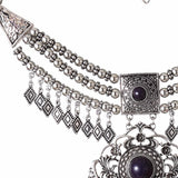 Women's Vintage Bohemian Style Tassel Bib Statement Choker Necklace Maxi Necklace Ethnic Jewelry