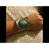 2Colors Bohemian Vintage Turquoise Cuff Bracelets Bangles - The Rogue's Clothes
