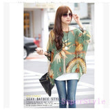 Casual Women Chiffon Bohemia Print Loose Batwing Sleeve Tops Blouses Shirts - The Rogue's Clothes