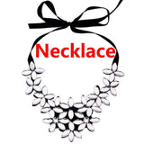 New Fashion Charm Prom Wedding Bridal Jewelry Crystal Rhinestone Necklace Earring Set Gift