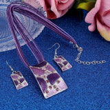 Fashion Earring and Necklace Set Alloy Rope Pendent Women Jewelry Jewelry Set