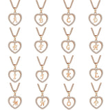 Exquisite 26 Letters Long Sweater Zircon Chain Pendant Necklace Love Heart Pendants for Women Collier Choker Necklaces Lovers Gi