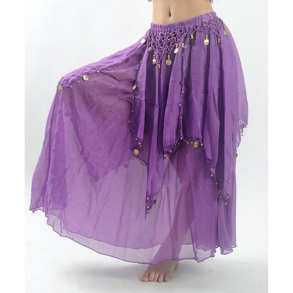 Belly Dance Costume Maxi Long Skirt Bollywood Indian Dress For Women 8 Colors (Just Skirt) - The Rogue's Clothes