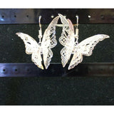 Ladies' Eardrop Jewelry silver Women's Charming Butterfly Dangle Hook Earrings