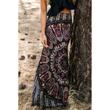Women's Maxi Summer Long Casual Skirt Dress Gypsy Boho Tribal Floral Beach Skirt