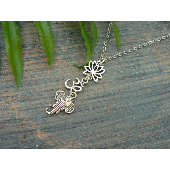 spiritual Ganesha necklace zen necklace ohm necklace zen hipster boho gypsy hippie style