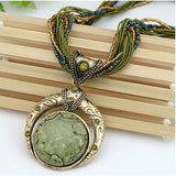Bohemian Necklace - Green - The Rogue's Clothes