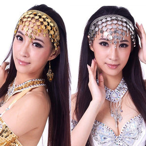 Women Belly Dance Accessories Costume Dancing Sequins Hair Band