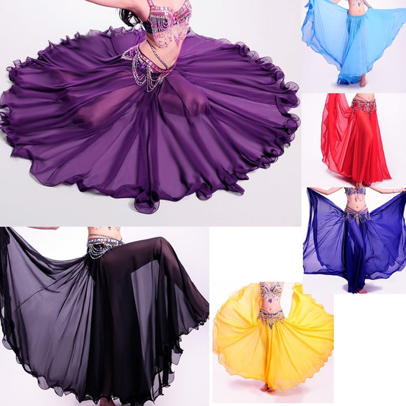 Best dance Professional Belly Dance Costume Long full skirt Hot 360 Full Circle Belly Dance Costume Skirts 360 Full Circle Long - The Rogue's Clothes