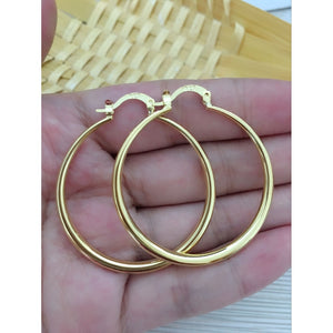 Fashion Jewelry NEW Silver Hoop Earrings N-144