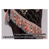 Womens Belly Dance Clothes Velvet Half Circle Gypsy Costume Fringe Hip Scarf with Coins Tribal Belly Dance Belt