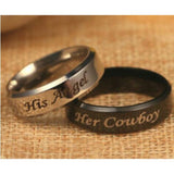 "Hot Sale Fashion ""His Queen""""Her King "" Stainless Steel Couple Ring His and Hers Matching Titanium Rings Unique Gift for Lovers"