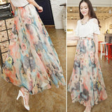 Fashion Women's Boho Bohemian Chiffon Summer Beach Long Maxi Dress Long Skirt AP