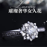 2018 Women Fashion Silver Synthetic Diamond Engagement Irish Claddagh Rings Gifts Size 4-12 - The Rogue's Clothes