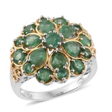 925 Sterling Silver Emerald Gemstone  Birthstone Engagement Wedding Ring Size 6 7 8 9 10 - The Rogue's Clothes