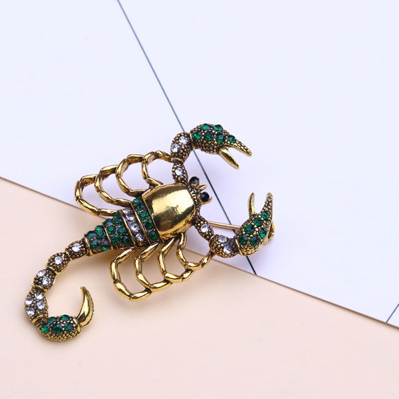 scorpion insect brooch enamel pin metal lapel pin men jewelry gifts brooches for women rhinestone broches