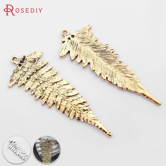 (31779)10PCS 58*22MM Antique Gold Zinc Alloy Leaves Tree Leaf Charms Pendants Diy Jewelry Findings Accessories wholesale - The Rogue's Clothes