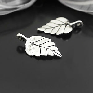 (26949)20PCS 29x15MM Antique Silver Zinc Alloy Tree Leaf Leaves Charms Pendants Jewelry Findings Accessories - The Rogue's Clothes
