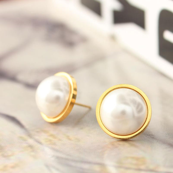 XUANHUA Stainless Steel Pearl Earrings For Women Jewelry Small Stud Earrings Fashion 2019 Jewellery Wholesale