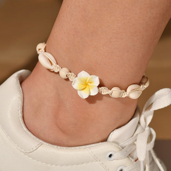 Modyle Beach Barefoot Bracelet Ankle SeaShell Anklet For Women Foot Jewelry Summer On Leg strap Bohemian Jewelry Accessories