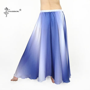 Women belly dance costume Gradient color skirt bellydance performance clothing big swing skirt India Gypsy skirt dancewear