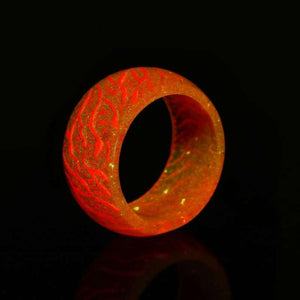 Fashion Colorful Luminous Silicone Ring Women Men Fluorescent Glowing Rings Jewelry Glow In The Dark Finger Ring Band Halloween