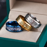 1 Pc Fashion Silvering Celtic Dragon Stainless Steel Ring for Mens Jewelry Gift Creative Mirror Surface Wedding Silver Ring